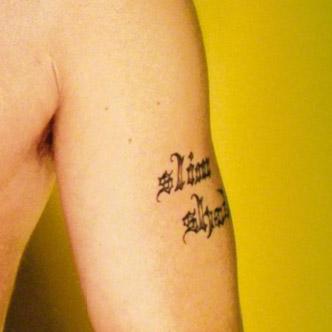 Eminem Upper Left Arm Old Slim Shady Tattoo